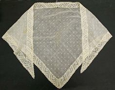 Fichu, probably American. Cotton, last quarter 18th century. Length at center back 28 1/2 inches