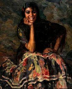 Figurative gypsy paintings | ... Cardona Llados (1877-1957) Spanish Artist ~ Blog of an Art Admirer