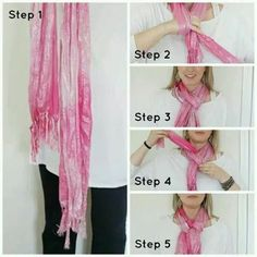 Stylish Outfits With A Scarf and Smart Ways to Tie the Scarf - Pretty Designs Ways To Tie Scarves, Ways To Wear A Scarf, How To Wear Scarves, Wearing Scarves, Stylish Eve, Stylish Outfits, Scarf Knots, Scarf Wrap, Diy Mode