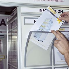 Allows for permanent attachment in combination with the magnetic document window (three magnetic sides, one self-adhesive side). The colour-coded frames ensure clear identification, which is scratch resistant thanks to the rear-sided. Huddle Board, Security Room, 6 Sigma, Warehouse Project, Visual Management, Factory Architecture, E Trade, Powerpoint Free, Lean Six Sigma