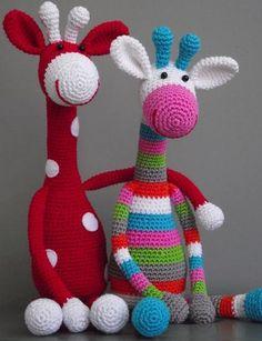 I wish I was ambitious enough to do amigurumi crochet!amigurumi giraffes - these guys are amazing!amigurumi giraffes - love doing amigurumi. so much fun and SO cute!Janja croche: A AmigurumiI feel like making some more amigurumi. Knit Or Crochet, Cute Crochet, Crochet For Kids, Crochet Crafts, Crochet Dolls, Yarn Crafts, Crochet Projects, Crocheted Toys, Diy Crafts