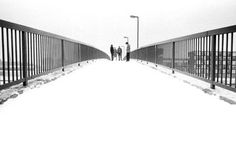 Kevin Cummings iconic photo of Joy Division taken on Princess Parkway Bridge, Hulme