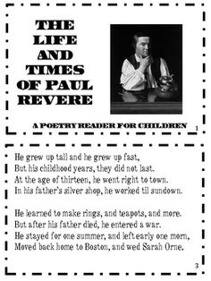 Paul Revere Trading Card | Worksheets and History