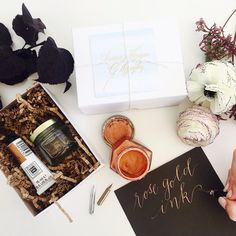 Rose Gold Calligraphy Kit Add On by LHCalligraphy on Etsy
