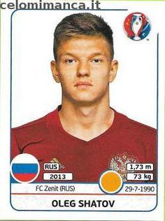 UEFA EURO 2016™ Official Sticker Album: Fronte Figurina n. 175 Oleg Shatov