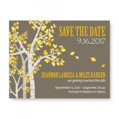 Birch Save The Date Cards