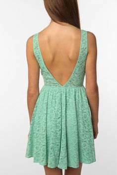 mint lace... what if this was YOUR bridesmaid dress?? i think yes..little short but like more than one we tried on that was peach