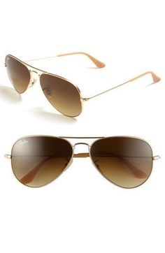 original aviator sunglasses  Pink rose Ray-Ban aviator sunglasses with gold frames