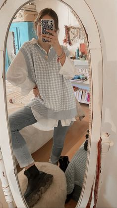 Retro Outfits, Cute Casual Outfits, Stylish Outfits, Vintage Outfits, Winter Fashion Outfits, Look Fashion, Spring Outfits, Mode Ootd, Looks Style