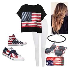 """""""4th of July  (2)"""" by coolcat000 ❤ liked on Polyvore featuring Topshop, Chicnova Fashion, Converse, LogoArt and Casetify"""