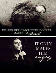 Yes angry Dean! ! Lol x