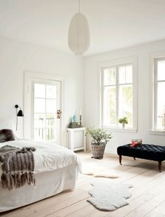 lots of light + white walls