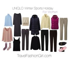 Winter Sports Holiday Travel Packing List featuring UNIQLO http://travelfashiongirl.com/ultralight-warmth-uniqlo-winter-sports-holiday-packing-list/ #travel #packing #list