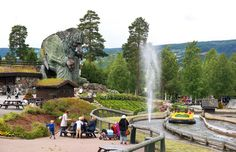 The giant troll standing guard at Hunderfossen Family Park, Norway