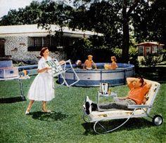 Ah, Suburban Life! 1950s Happy Housewife.