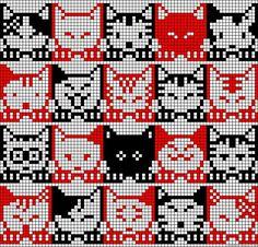 Cats cross stitch free pattern