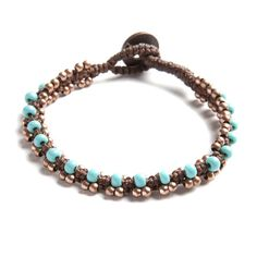 Woven Turquoise Woven Bracelet | Made in Guatemala | Come Together | Come Together Trading--$12.50