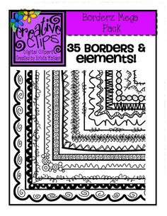 Borderz MEGA Pack (Creative Clips Digital Clipart)