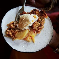 Granny Smith Apple Crisp Recipe on Food & Wine -Granny Smith apples are the key to this crisp, because their tartness is delicious with the sweet, crunchy oat-flecked crumb topping. Fall Desserts, Just Desserts, Delicious Desserts, Dessert Recipes, Yummy Food, Southern Desserts, Apple Desserts, Yummy Yummy, Dessert Ideas