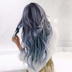 Gray blue purple hair | Awesome & crazy hair color dyes ideas | Beautiful and unique hair color | Hair styles to try | Hair inspiration | Trending in Hair & Beauty | Hair trends