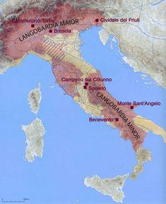 The Lombards came into Italy from the north in the AD, apparently pushed south by a rather aggressive and expansive nomadic people called the Avars, about whom little is known. The Lombards met with almost no resistance. Historical Maps, Historical Pictures, Women In History, Ancient History, Roman Empire Map, Viking Culture, Italy Map, Early Middle Ages, Alternate History