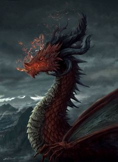 Dragon | Ancient Red Dragon Ragorath by luffie
