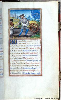 October - Book of Hours - France, Paris, ca. 1510-1520 - MS M.85 fol. 10r