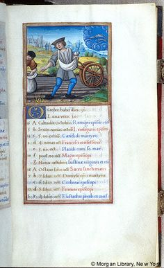 October - Book of Hours - France, Paris, ca. 1510-1520 - MS M.85 fol. 10r