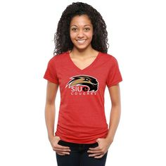 Southern Illinois Edwardsville Cougars Womens Classic Primary Tri-Blend V-Neck T-Shirt - Red - $24.99