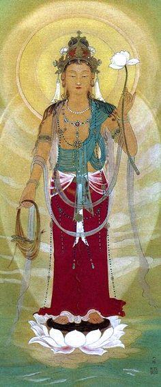 Kannon - The Japanese Bodhisattva of compassion.