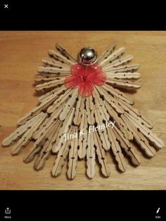 Clothespin Cross, Wooden Clothespin Crafts, Popsicle Stick Crafts, Craft Stick Crafts, Popsicle Sticks, Vbs Crafts, Wreath Crafts, Craft Work For Kids, Clothes Pin Ornaments