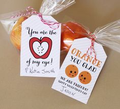 Free #Valentine Fruit Tags #Printable! Great alternative to candy for valentine's day!