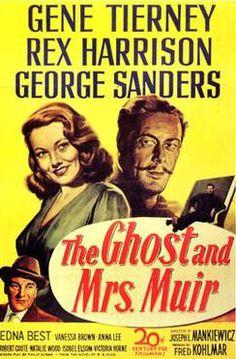 Fantástico, Comedia, Romance , Comedia romántica, Fantasmas, 1947,El fantasma y la señora Muir