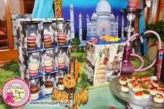 Mesa dulce merienda temática de Viajes - Voyages Themed dessert table