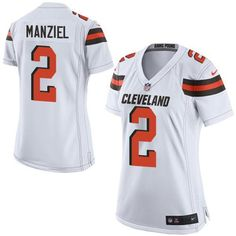 "$23.88 at ""MaryJersey""(maryjerseyelway@gmail.com) Nike Browns 2 Johnny Manziel White Women Stitched NFL New Elite Jersey"