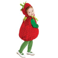 Halloween Underwraps Belly Babies Strawberry Costume Child Toddler X-Large Women's, Size: XL Red Baby Chicken Halloween Costume, Newborn Halloween Costumes, Baby First Halloween, Kids Costumes Girls, Toddler Costumes, Halloween Costumes For Kids, Halloween 2016, Halloween Treats, Halloween Party