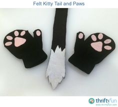 Two of my kids went at kitties for Halloween this year. To go with their ears, I made these easy tails and paws to complete their costumes. Cat Tail Costume, Cat Costume Kids, Bird Costume, Cat Costumes, Halloween Costumes, Cat Halloween Makeup, Halloween Kids, Halloween 2019, Toddler Party Favors