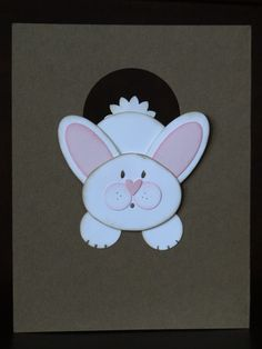 large ornament punch for easter bunny cards | Disappearing Down the Rabbit Hole and Happy Birthday Nicole!