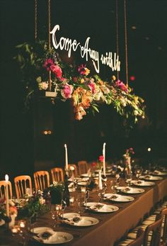 Lovely hanging centre piece