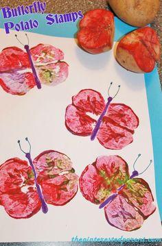 Butterfly Potato Stamp Prints