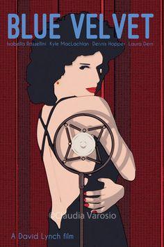 Blue Velvet (1986) ~ Alternative Movie Poster by Claudia Varosio #amusementphile