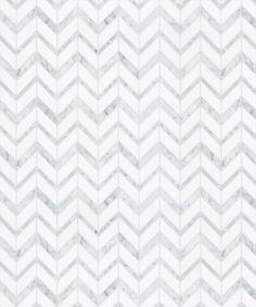 Available at Versatile Inc.   Ares Cold   Carrera Velato & White Thassos   http://www.versatileinc.ca/coll_mosaique_surface.html   #versatileinc #marble #tile #shadesofgrey
