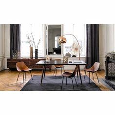 Mesa de comedor de madera de palo rosa maciza marrón An. 175 cm Soho | Maisons du Monde