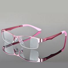 SOZOTU Optical Eyeglasses Frame Women Men Computer Glasses Spectacle Half Frame For Women's Transparent Female Male Oculos Pink Glasses Frames, Rimless Glasses, Eyeglasses Frames For Women, Computer Glasses, Fashion Eye Glasses, Optical Glasses, Glasses Online, Womens Glasses, Models