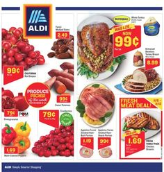Exploring In Store Ad of Aldi flyer here! Isn't the Aldi In Store Ad sneak peek posting yet? We are posting Aldi In Store Ad next week flyer a few days before the deal issues. Whole Turkey, Store Ads, Smoked Ham, Red Grapes, Weekly Ads, Turkey Breast, November 8, Fresh, Breakfast