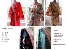 Custom Made Robe  Robes  Cotton Robes   by ORTUPESKimonoRobes, $69.00
