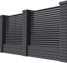 House Fence Design, Exterior Wall Design, Front Gate Design, Modern Fence Design, Facade House, Gate House, Interior Design Atlanta, Compound Wall Design, Steel Gate Design