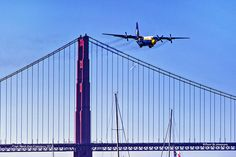 Fat Albert Over Golden Gate Bridge Fleet Week San Francisco, Angel Flight, Air Show, Golden Gate Bridge, Fat, Luxury