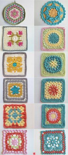 crochet blocks 397x900 10 Bold Examples of Crochet Blocks and Squares