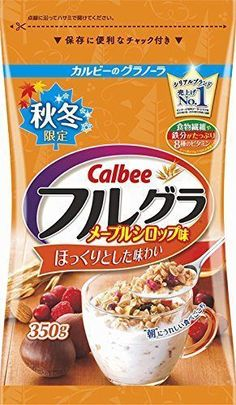 From Japan,Calbee Fruit granola Maple Syrup 350g,Cereals #Calbee